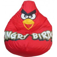 Кресло-мешок Красная Птичка оксфорд