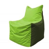 Кресло-мешок Фокс Ф 21-157 (салатовый - тёмно-оливковый)