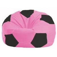 Бескаркасное кресло мешок Мяч М1.1-188 (розовый - чёрный)