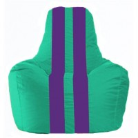 Кресло-мешок Спортинг бирюзовый - фиолетовый С1.1-285