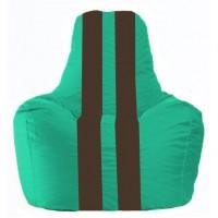 Кресло-мешок Спортинг бирюзовый - коричневый С1.1-298