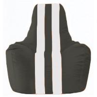 Кресло-мешок Спортинг чёрный - белый С1.1-392