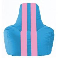 Кресло-мешок Спортинг голубой - розовый С1.1-277