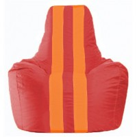 Кресло-мешок Спортинг красный - оранжевый С1.1-176