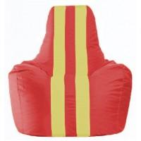 Кресло-мешок Спортинг красный - жёлтый С1.1-178