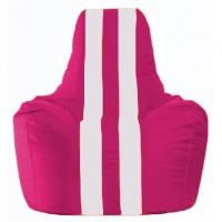 Кресло-мешок Спортинг лиловый - белый С1.1-382