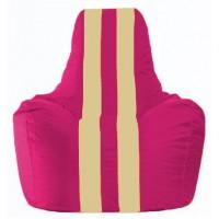 Кресло-мешок Спортинг лиловый - светло-бежевый С1.1-373