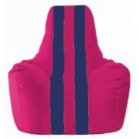Кресло-мешок Спортинг лиловый - тёмно-синий С1.1-379