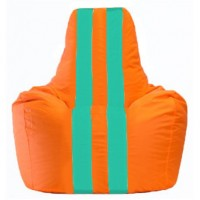 Кресло-мешок Спортинг оранжевый - бирюзовый С1.1-223