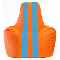 Кресло-мешок Спортинг оранжевый - голубой С1.1-220