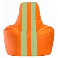 Кресло-мешок Спортинг оранжевый - салатовый С1.1-215
