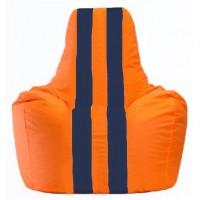 Кресло-мешок Спортинг оранжевый - тёмно-синий С1.1-209