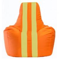 Кресло-мешок Спортинг оранжевый - жёлтый С1.1-219