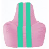 Кресло-мешок Спортинг розовый - бирюзовый С1.1-204