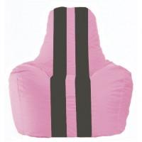 Кресло-мешок Спортинг розовый - чёрный С1.1-188