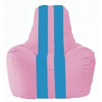Кресло-мешок Спортинг розовый - голубой С1.1-202