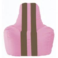Кресло-мешок Спортинг розовый - коричневый С1.1-200