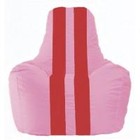 Кресло-мешок Спортинг розовый - красный С1.1-199