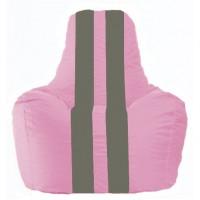 Кресло-мешок Спортинг розовый - тёмно-серый С1.1-187