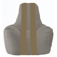 Кресло-мешок Спортинг серый - бежевый С1.1-348