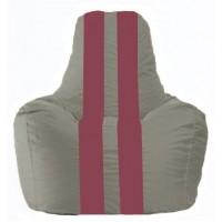 Кресло-мешок Спортинг серый - бордовый С1.1-336