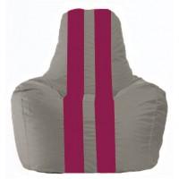 Кресло-мешок Спортинг серый - лиловый С1.1-353