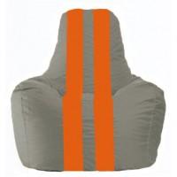 Кресло-мешок Спортинг серый - оранжевый С1.1-342