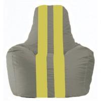 Кресло-мешок Спортинг серый - жёлтый С1.1-338