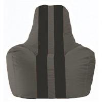 Кресло-мешок Спортинг тёмно-серый - чёрный С1.1-375