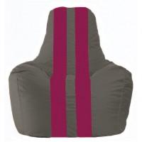 Кресло-мешок Спортинг тёмно-серый - лиловый С1.1-371