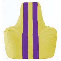 Кресло-мешок Спортинг жёлтый - фиолетовый С1.1-247