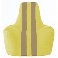 Кресло-мешок Спортинг жёлтый - тёмно-бежевый С1.1-252