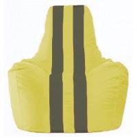 Кресло-мешок Спортинг жёлтый - тёмно-серый С1.1-249