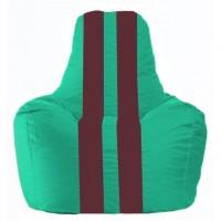 Кресло-мешок Спортинг бирюзовый - бордовый С1.1-314