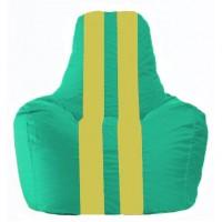 Кресло-мешок Спортинг бирюзовый - жёлтый С1.1-313