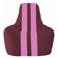 Кресло-мешок Спортинг бордовый - розовый С1.1-306