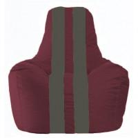 Кресло-мешок Спортинг бордовый - тёмно-серый С1.1-300