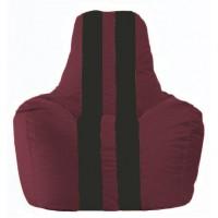 Кресло-мешок Спортинг бордовый - чёрный С1.1-299