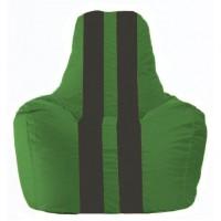 Кресло-мешок Спортинг зелёный - чёрный С1.1-235