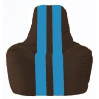 Кресло-мешок Спортинг коричневый - голубой С1.1-319