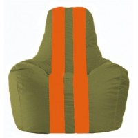 Кресло-мешок Спортинг оливковый - оранжевый С1.1-227