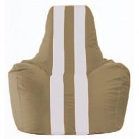 Кресло-мешок Спортинг бежевый - белый С1.1-99