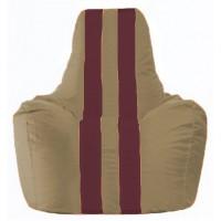 Кресло-мешок Спортинг бежевый - бордовый С1.1-97