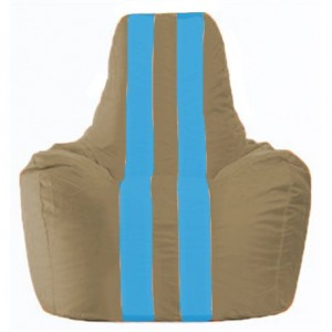 Кресло-мешок Спортинг бежевый - голубой С1.1-96