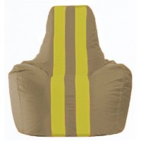 Кресло-мешок Спортинг бежевый - жёлтый С1.1-95