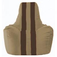 Кресло-мешок Спортинг бежевый - коричневый С1.1-93