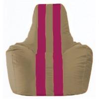 Кресло-мешок Спортинг бежевый - лиловый С1.1-78