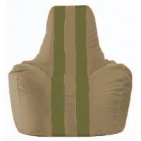 Кресло-мешок Спортинг бежевый - оливковый С1.1-91