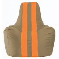 Кресло-мешок Спортинг бежевый - оранжевый С1.1-90