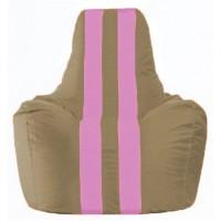 Кресло-мешок Спортинг бежевый - розовый С1.1-94